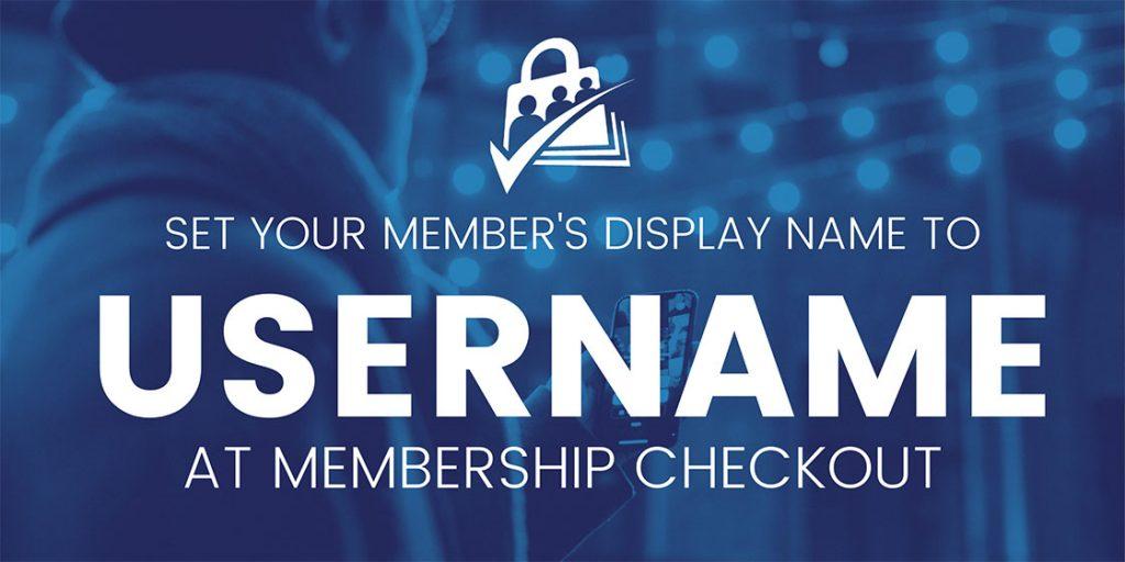 member username