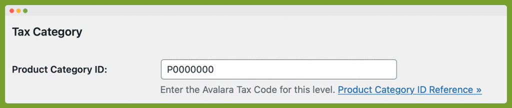 Screenshot of the field to enter a tax code for each membership level product being sold on the Memberships > Settings > Levels > Edit Level page in the WordPress admin.