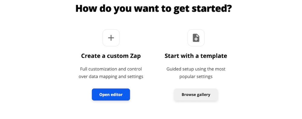 Creating a Custom Zap