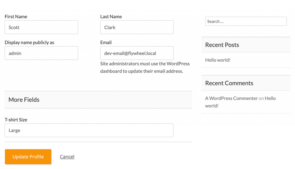 Custom field on the Member Profile Edit page (frontend)