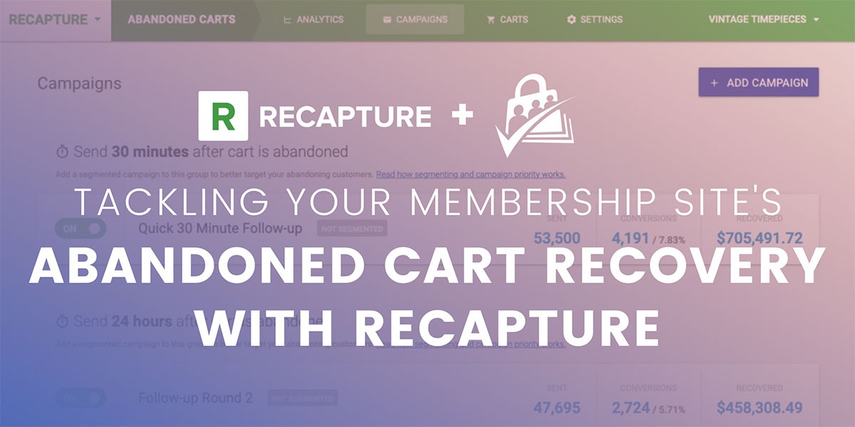 Banner Graphic for Post on Recapture Integration for Paid Memberships Pro